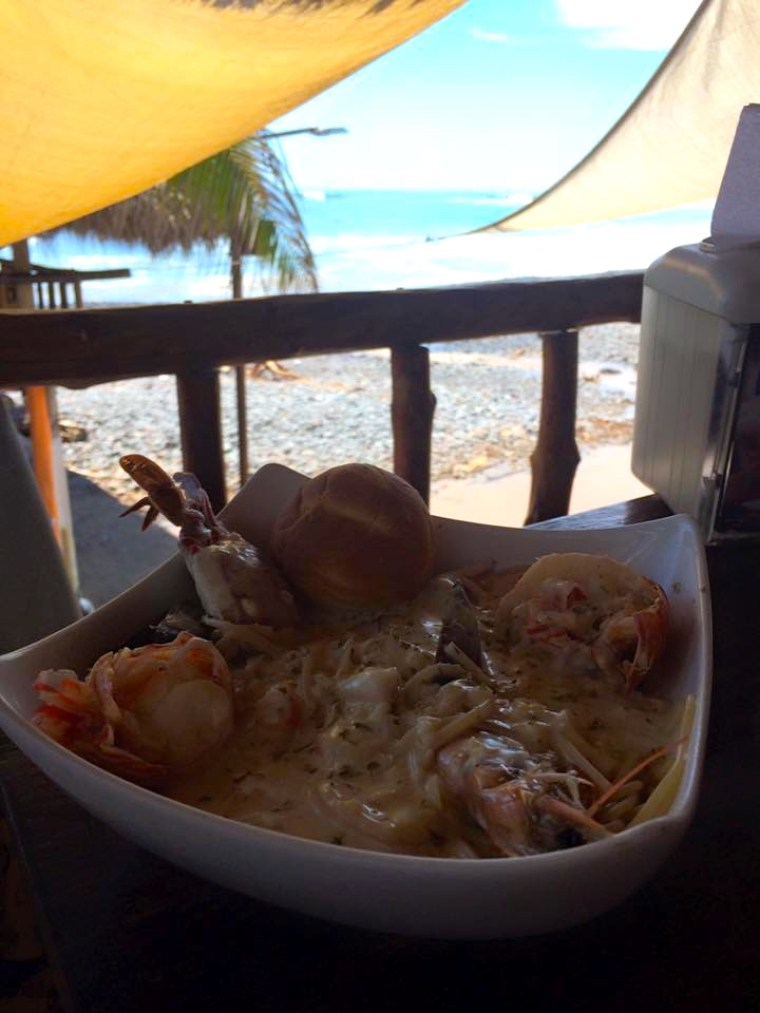 Delicious food at High Tide, El Tunco, El Salvador