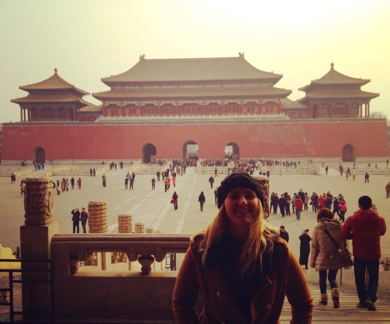 Seven Continents Sasha outside of the Meridian Gate, Forbidden City, Beijing, China
