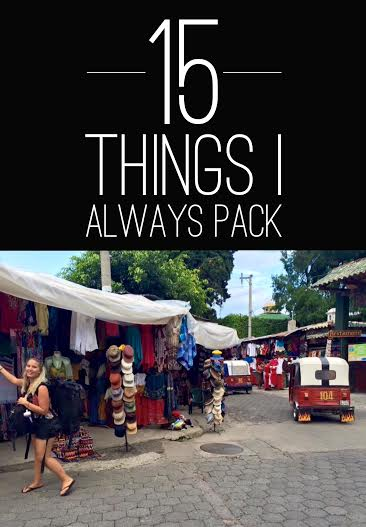 15 Things I Always Pack! SEVEN CONTINENTS SASHA