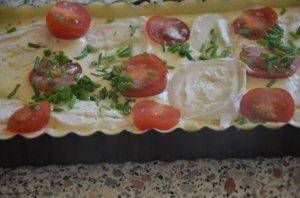 tarte chèvre et tomates