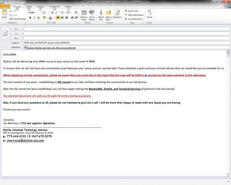 Outlook 2010 Email Formatting Issue With Original Message