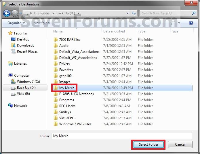 โฟลเดอร์ของผู้ใช้ - Default เปลี่ยนสถานที่ตั้ง properties2.jpg-