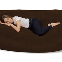 Big Bean Bag Chairs Ergonomic Chair With Headrest Furry – Best Lounge Furniture - Sevenhints