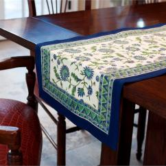 Kitchen Table With Leaf White Chandelier French Blue Runner [233] - $40.00 : Fair Trade Gifts ...
