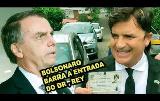 BOLSONARO Proíbe Entrada de Dr. Rey em sua casa para ser o Ministro da Saúde