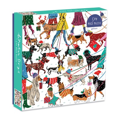 Winter Dogs 500 Piece Puzzle by  Galison