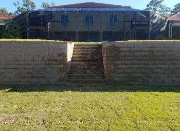 Redi Rock Marine Construction Restrained segmented block retaining wall Myrtle Beach SC
