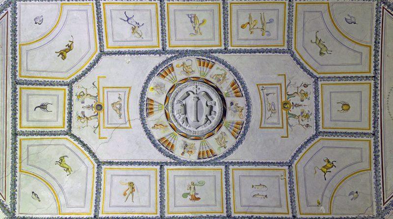 Fresco_with_Zodiac_Signs_in_Rocca_Abbaziale_(Subiaco)