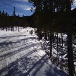 Winter Trail Running behind Keystone Resort