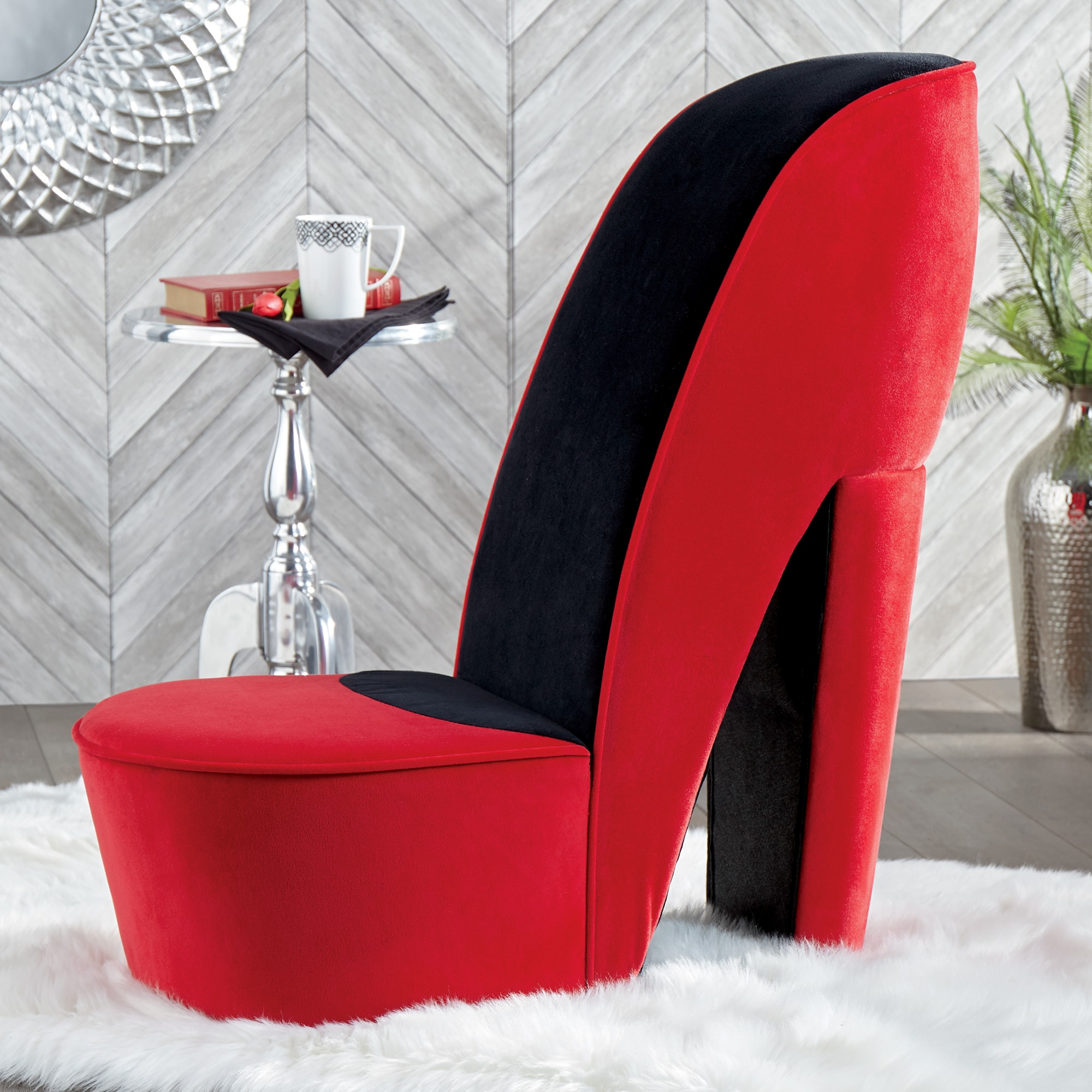 high heel chair cheap white accent with ottoman seventh avenue