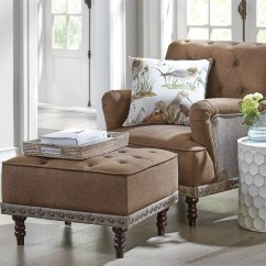 Tufted Accent Chairs Hanging Chair Pillow And Nailhead Ottoman Seventh Avenue