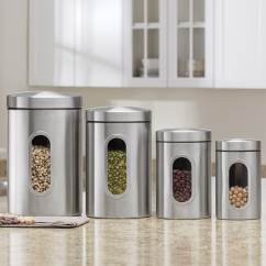 Rooster Canister Sets Kitchen Island Butcher Block Canisters - 4-piece Sets,   Seventh Avenue