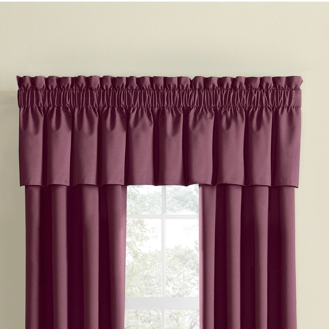 Thermal Rod Pocket Panels And Valance Seventh Avenue