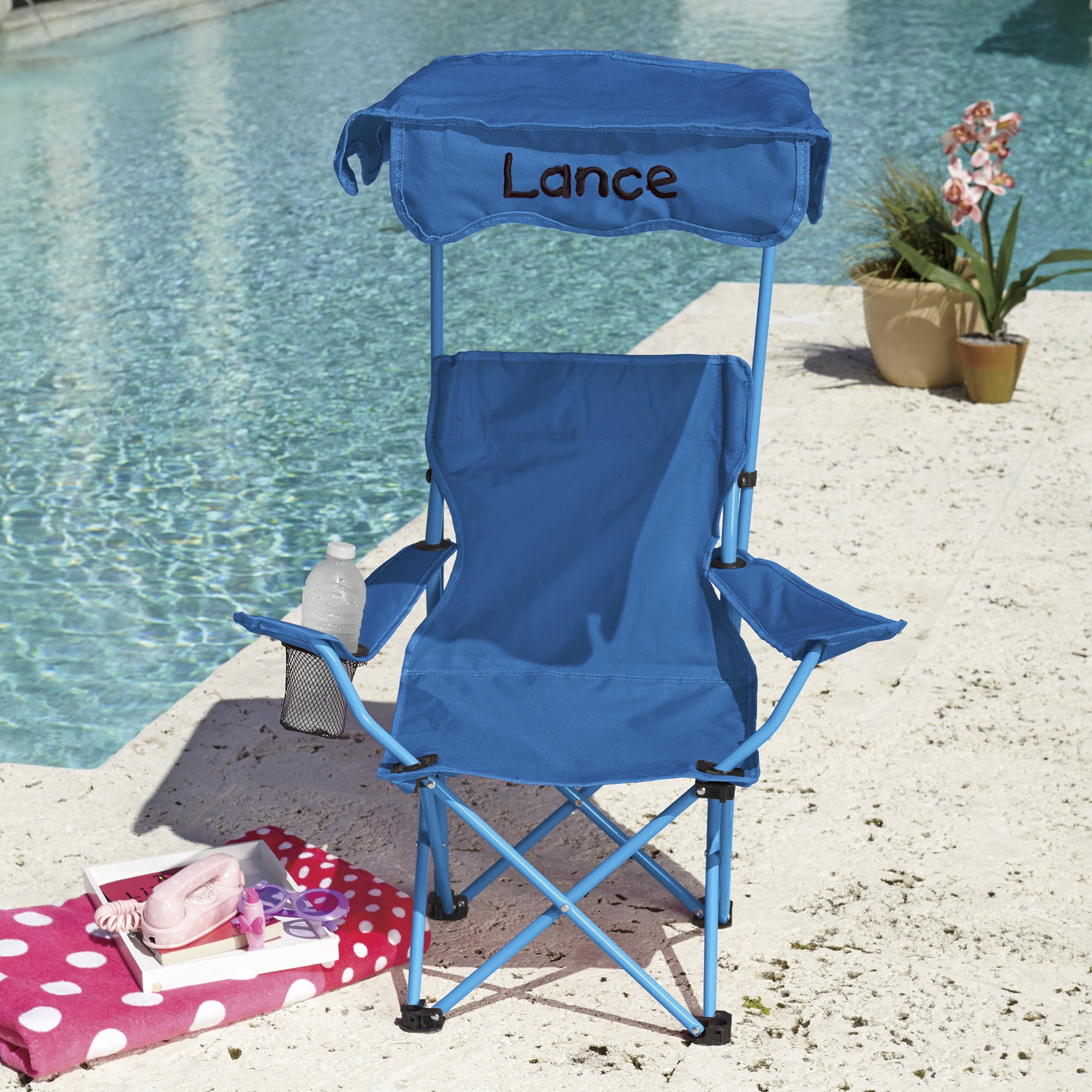 kids chair with canopy memory foam bed personalized seventh avenue
