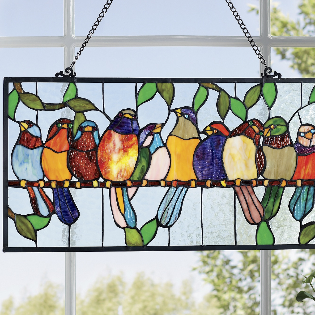 Stained Glass Bird Hanging Seventh Avenue