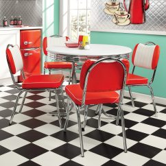 Retro Kitchen Table Exhaust Fan Dining And Set Of 2 Java Joint Chairs Seventh Large
