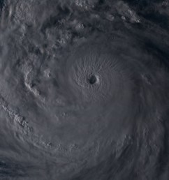 here is a visible satellite view of kong rey during the evening hours it is a very large system and we can see intense convection around the eye  [ 1113 x 790 Pixel ]