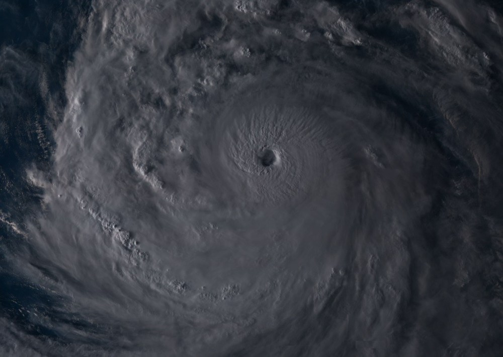 medium resolution of here is a visible satellite view of kong rey during the evening hours it is a very large system and we can see intense convection around the eye
