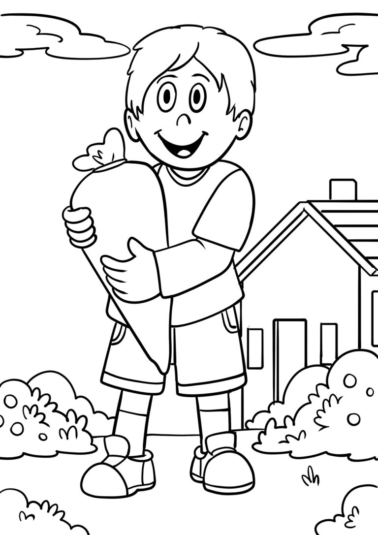 Malvorlage Junge mit Schultüte das BlogMagazin