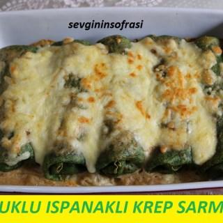 Tavuklu Ispanaklı Krep Sarması