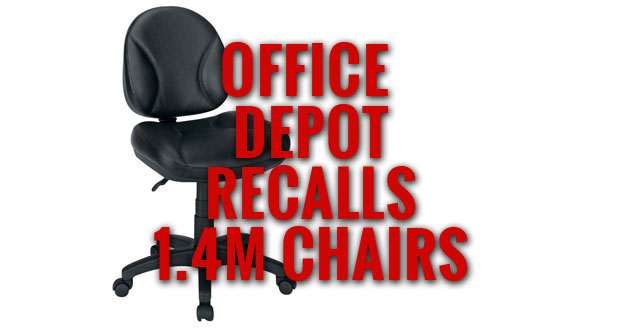 Serious Injures Related To Office Depot Gibson Task Chair