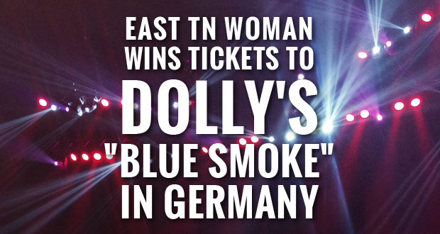 Sevierville, Tenn. and the USO give away tickets to Dolly's Blue Smoke concert in Germany.