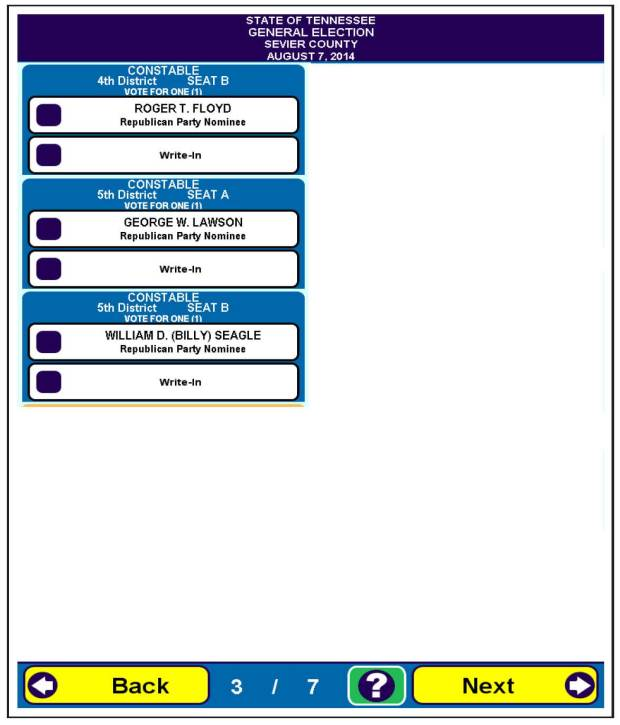 Sevier County General Election 10