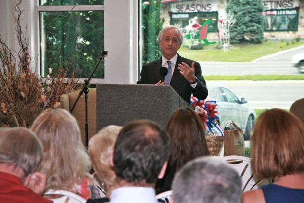 U.S. Senator Corker speaks to members of the local business community.
