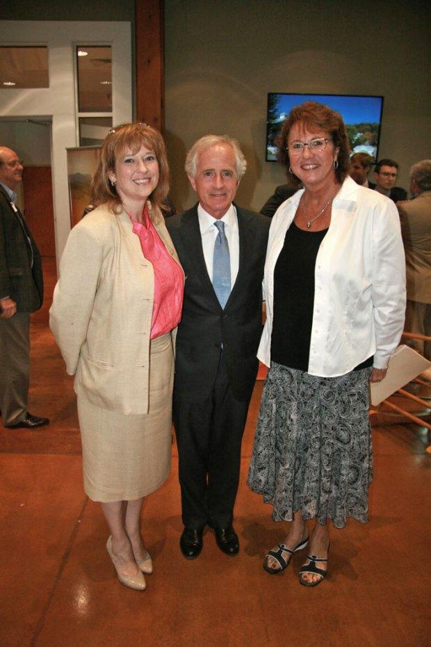 Vicki Simms, U.S. Senator Bob Corker and Brenda McCrosky.