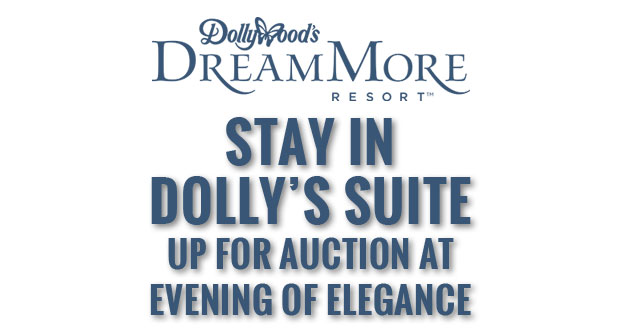 Bid on a DreamMore Resort vacation package and you could be the first guests to stay in Dolly's Suite Dreams.
