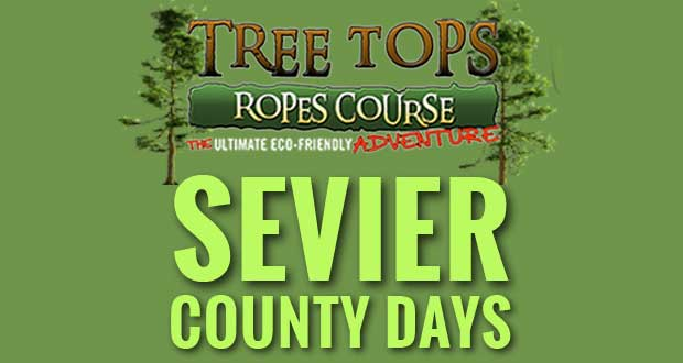 Sevier County Days at Tree Tops Ropes Course