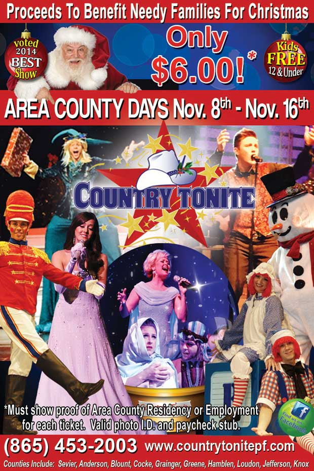Sevier County Days at Country Tonight in Pigeon Forge