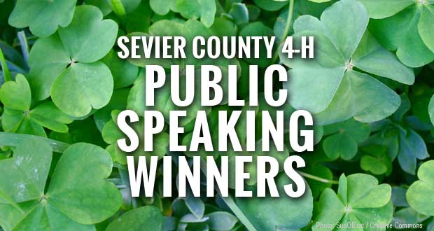 Sevier County 4-H Public Speaking Winners Announced