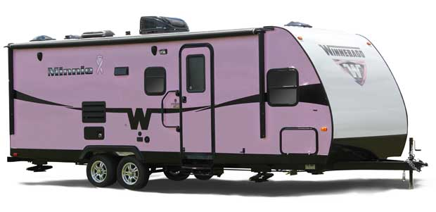 Enter to win a Winnebago Minnie at the RV show.