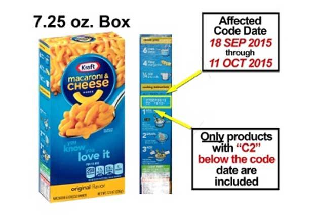 Kraft Macaroni & Cheese Recall Code