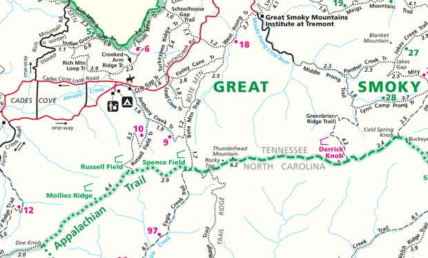Great Smoky Mountains Trail Map