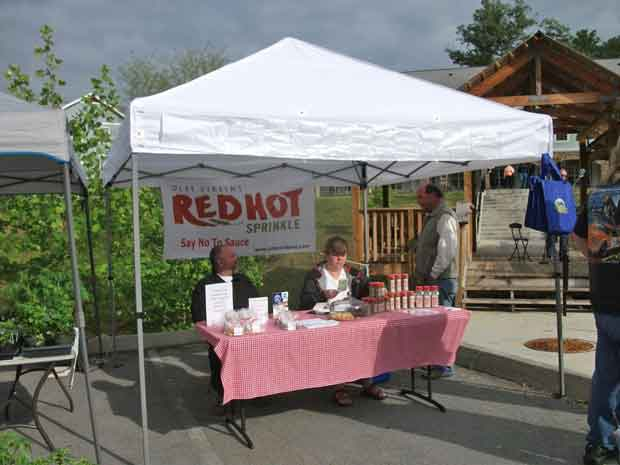 Red Hot Sprinkle at Gatlinburg Farmers Market