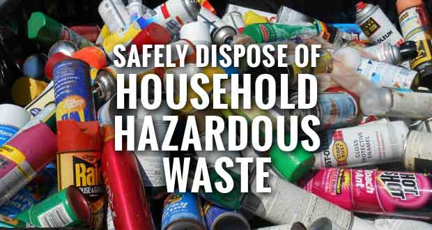 Annual Household Hazardous Waste Collection on Saturday