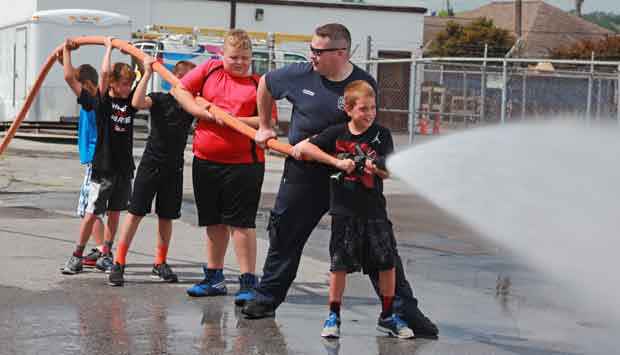Sevierville Summer Adventure Camp Kids Visit Fire Department
