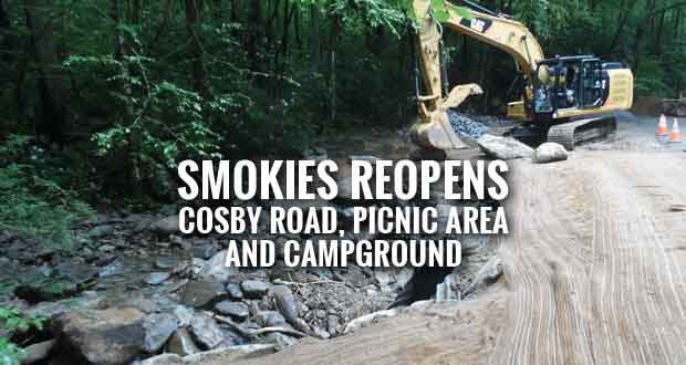 Park Reopens Cosby Road and Campground after Flood Repairs