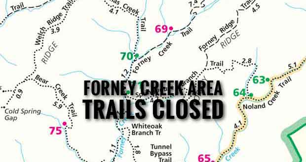 Smokies Trail Rehabilitation Project Closes Trails in Forney Creek Area
