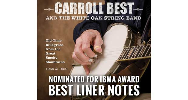 Great Smoky Mountains Association's Carroll Best CD Earns Prestigious Bluegrass Award Nomination