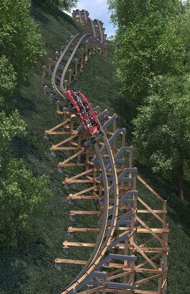 Dollywood Lightning Rod Wood Coaster