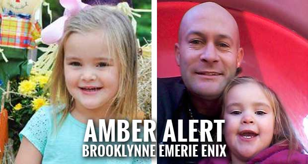 Amber Alert Issued for 2-year-old Brooklynne Emerie Enix