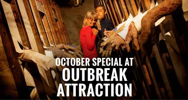 Outbreak Haunted Zombie Attraction Celebrating Halloween All Month with Discount Admission