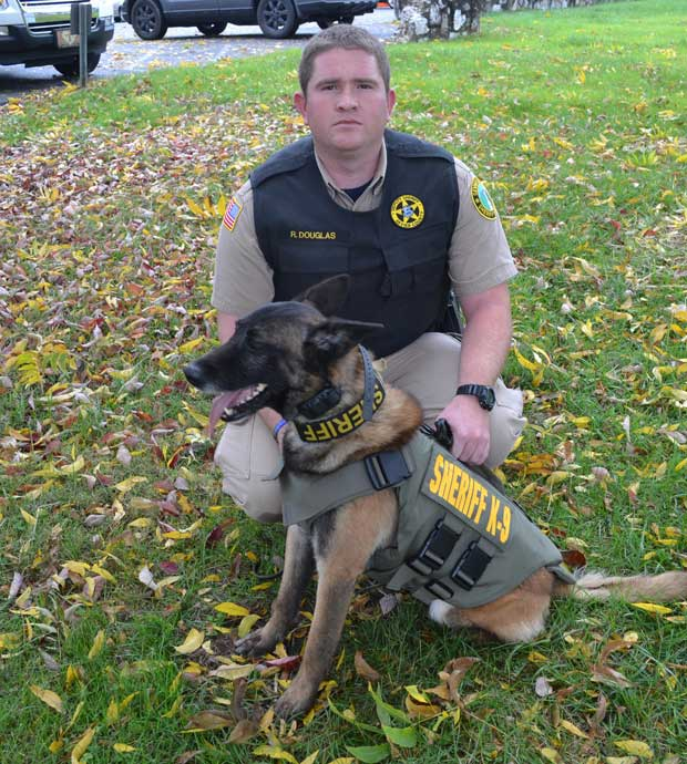 Vested Interest in K9s Vest Donation to Sevier County Sheriff's Office