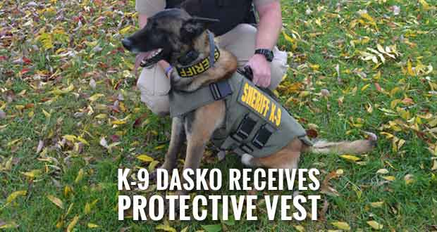 Anonymous Donor Sponsors Protective Vest for Sevier County Sheriff's K-9