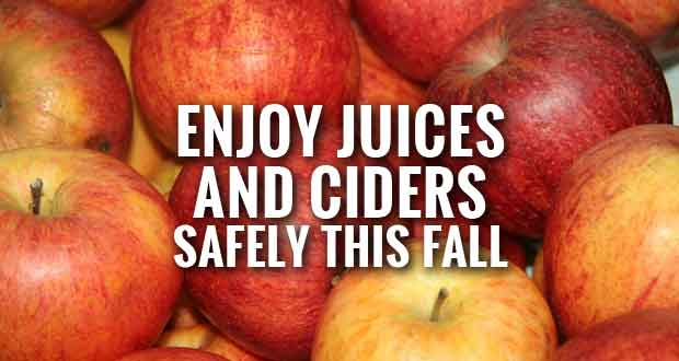 Drinking Unpasteurized Juice or Cider May Pose Health Risks