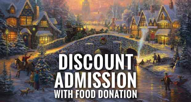 Thomas Kinkade's Christmas of Light Holding Food Drive for Second Harvest