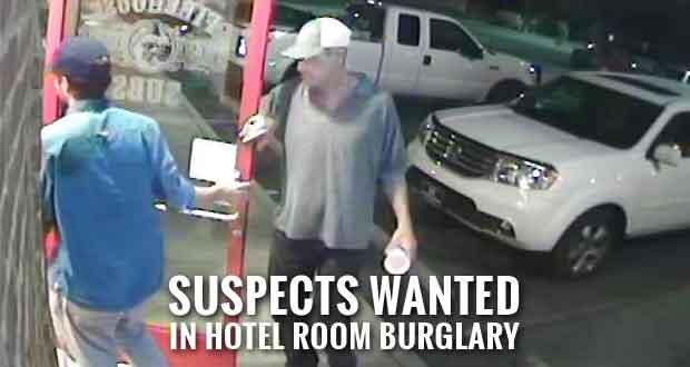 Police Seek Hotel Room Burglary Suspects Who Stranded Tourists, Ruined Christmas